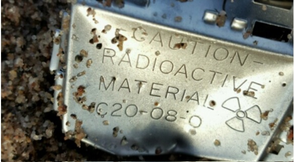 USCG image - radioactive material - container